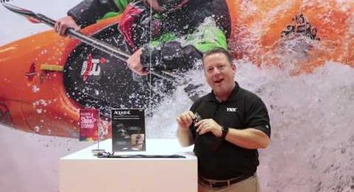 Bryon Robinson introduces YKK's AQUASEAL® zipper at IFAI Expo