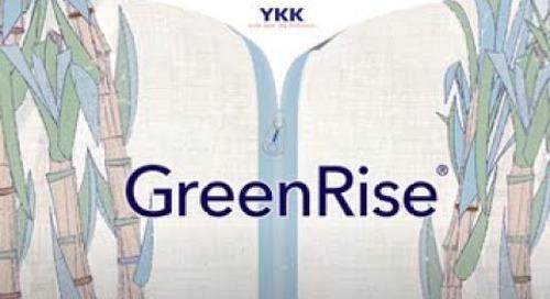YKK® sustainable zipper: GreenRise®