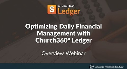 Optimizing Daily Financial Management with Church360° Ledger