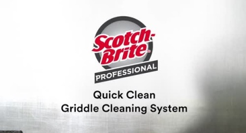 Quick Clean Griddle Cleaning System