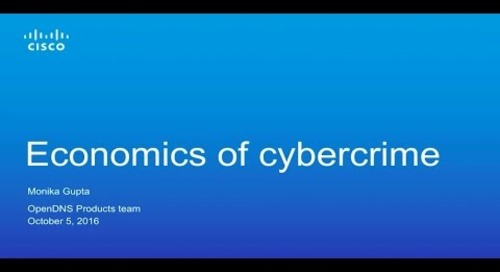 Economics of Cybercrime