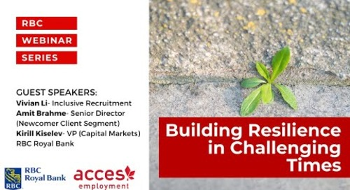 RBC Royal Bank Webinar | Building Resilience in Challenging Times