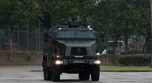 Commissioning of the Singapore Army's new Peacekeeper Protected Response Vehicle