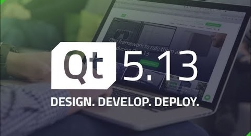 Qt 5.13 and Tools Update {On-demand webinar}