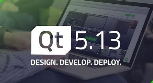 Qt 5.13 and Tools Update {On-demand webinar}
