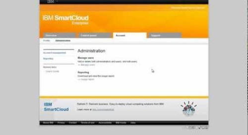 Getting started with IBM Smart Cloud