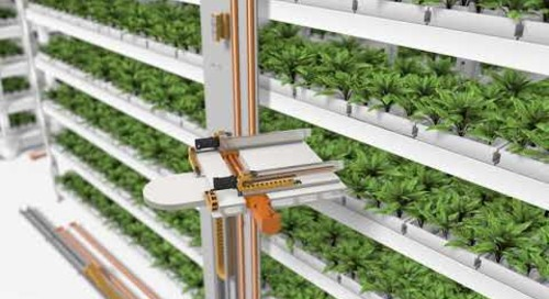 Vertical farming - motion plastic components help plants grow indoors!