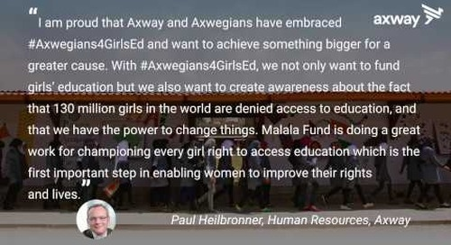 #Axwegians4GirlsEd - Axway global initiative in support of Malala Fund