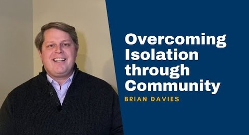 Brian Davies on Overcoming Isolation Through Community   New Book for Adults