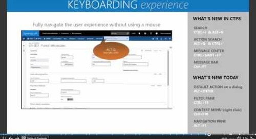 Microsoft Dynamics AX7 - The New Keyboarding Experience