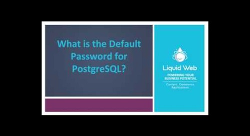 What is the Default Password for PostgreSQL?