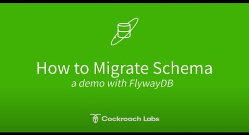 How to migrate schema