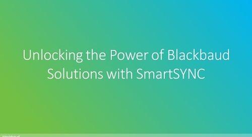 Unlocking the Power of Blackbaud Solutions with SmartSYNC