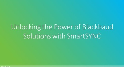 SmartTHING | Unlocking the Power of Blackbaud Solutions with SmartSYNC