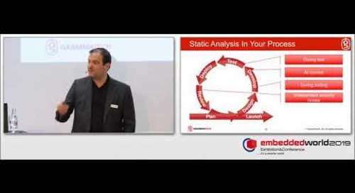 Embedded World 2019 Presentation: Static Analysis for Safety and Security