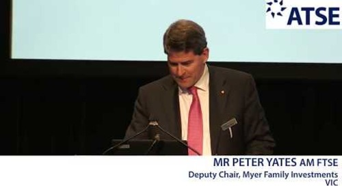 ATSE 2017 New Fellow: Mr Peter Yates AM FTSE