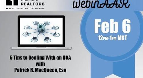 5 Tips to Dealing with an HOA Webinar