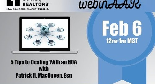 5 Tips to Dealing with an HOA Webinar