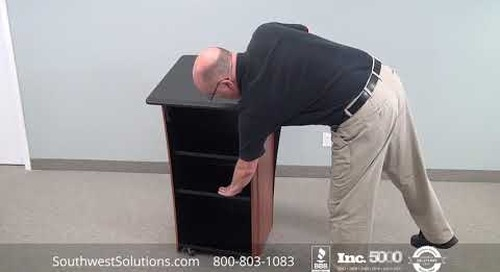 Executive Mobile Lecterns | Presentation Stands on Casters