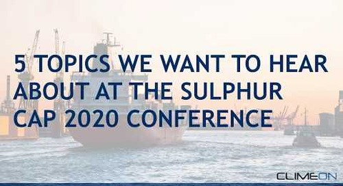 5 topics we want to hear about at the Sulphur Cap 2020 conference