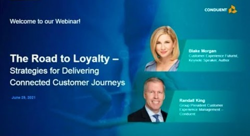 The Road to Loyalty – Strategies for Delivering Connected Customer Journeys