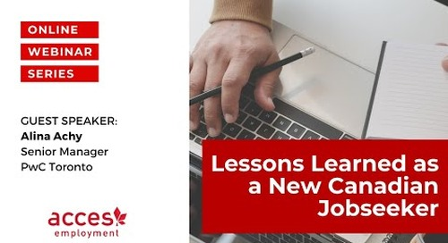Lessons Learned as a New Canadian Jobseeker