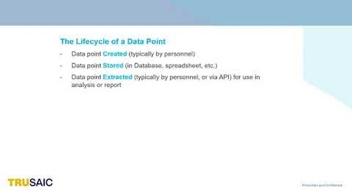 What is the Life Cycle of a Data Point - Webinar - Trusaic