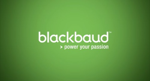 Blackbaud: Powering the Nonprofit Community
