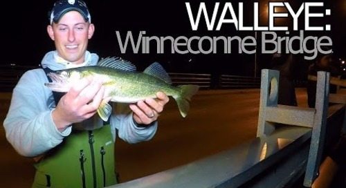 Walleye Fishing the Winneconne Bridge - Wolf River