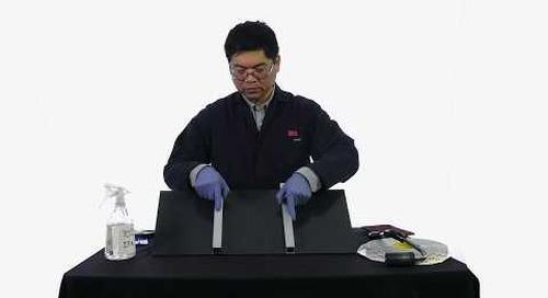 Reinforcing PVC panel with aluminium stiffeners
