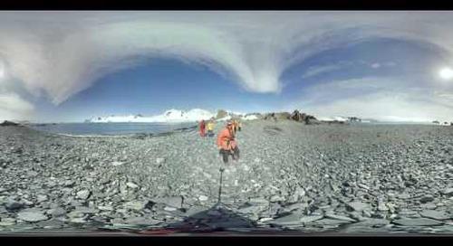 Antarctica: Ornithologist Fabrice Genevois talks fur seals on Half Moon Island (360° VR)