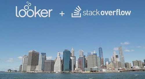 Looker + Stack Overflow: Improving the Data Science Workflow