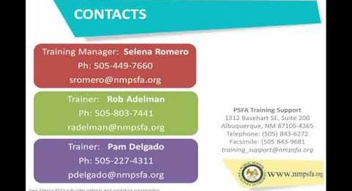 The New Mexico PSFA Introduce Their New Construction Information Management System