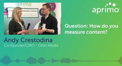 Aprimo Discusses How to Measure Content at ContentTECH with Andy Crestodina