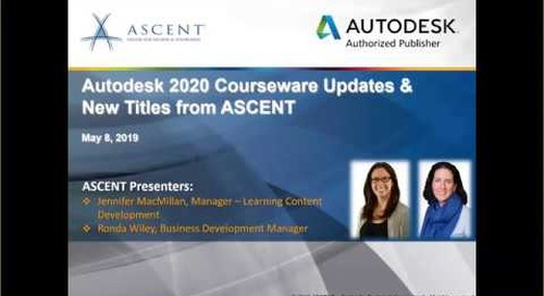 Autodesk 2020 Courseware Updates