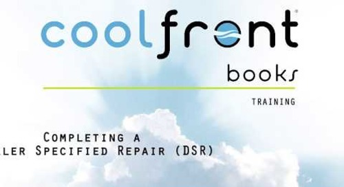 Coolfront Books - Completing a Dealer Specified Repair
