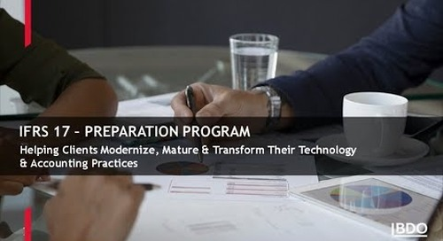 WEBINAR: IFRS 17 Preparation Program | BDO Canada