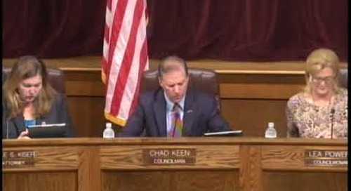 Bristol Tennessee City Council Meeting - October 2017