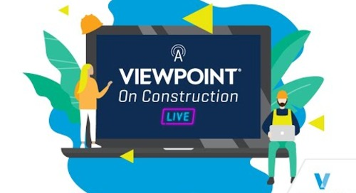 A Viewpoint On Construction Live - Episode 6 - Your Learning Journey on Viewpoint Academy