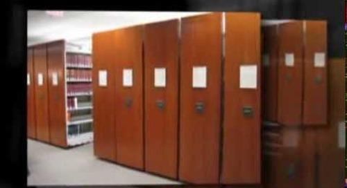 Compact shelving shelves racks library book stacks file storage system Ph 1-800-803-1083