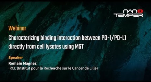 Characterizing binding interaction between PD-1/PD-L1 directly from cell lysates using MST