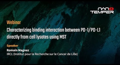 Characterizing binding interaction between PD-1-PD-L1 directly from cell lysates using MST
