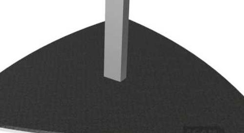 AGAM Triangle Floor Base Using 625 Stem 104