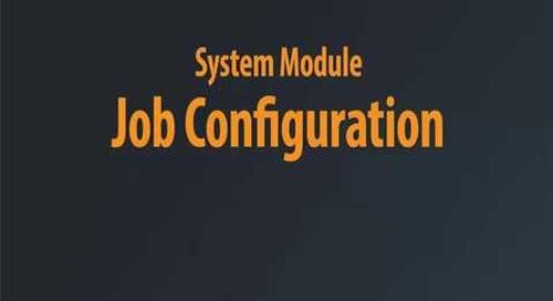 System Module - Job Configuration