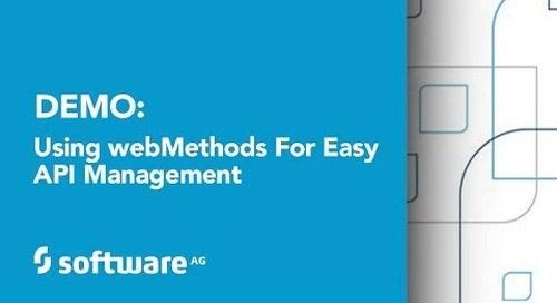 Using webMethods for Easy API Management