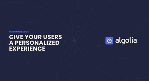 Algolia New Personalization Feature