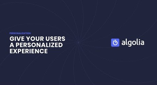 Algolia Personalization Feature