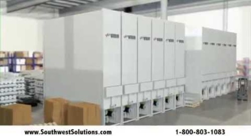 Automated Hollow Core Carousels Storing Printing Plate Sleeves & Cylinders