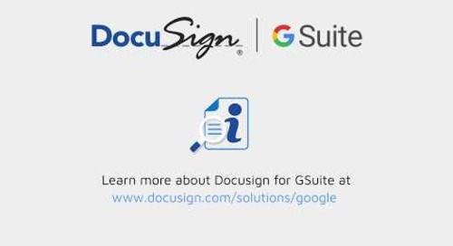 DocuSign for G Suite