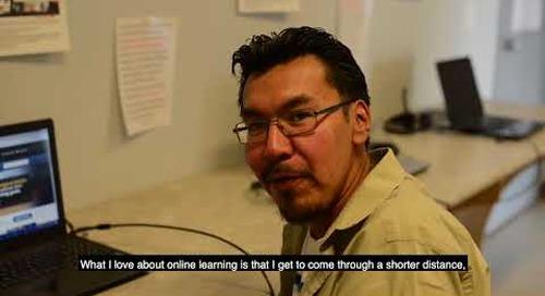 Online learning - Joshane Fiddler, Sandy Lake First Nation